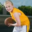 Teenage girl with basketball — Stock Photo