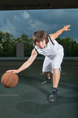 Basketball ballhandling skills — Stock Photo