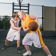 Stock Photo: Basketball matchup