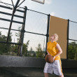 Stock Photo: Basketball training