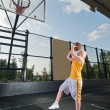 Basketball shooting training — Stock Photo