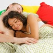 Couple sleeping in the bed — Stock Photo #3770620