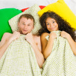 Stock Photo: Couple trapped at bedroom