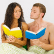 Couple leisure at the bedroom — Stock Photo #3770637