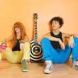 Rock band leisure time — Stock Photo