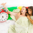 Woke up difficulties at monday morning series — Stock Photo
