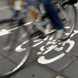 Stock Photo: Cycle lane