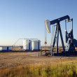 Oil well and Storage Tanks — Stock Photo