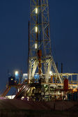 Drilling Rig at Night — Stock Photo