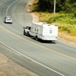 Recreational vehicles on the highway - Stock Photo