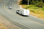 Recreational vehicles on the highway — Foto de Stock