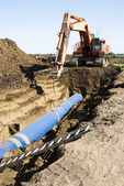 Pipeline Construction — Stock Photo