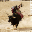 Stock Photo: Bull Riding 3