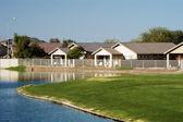 Casas em uma lagoa 2 — Foto Stock