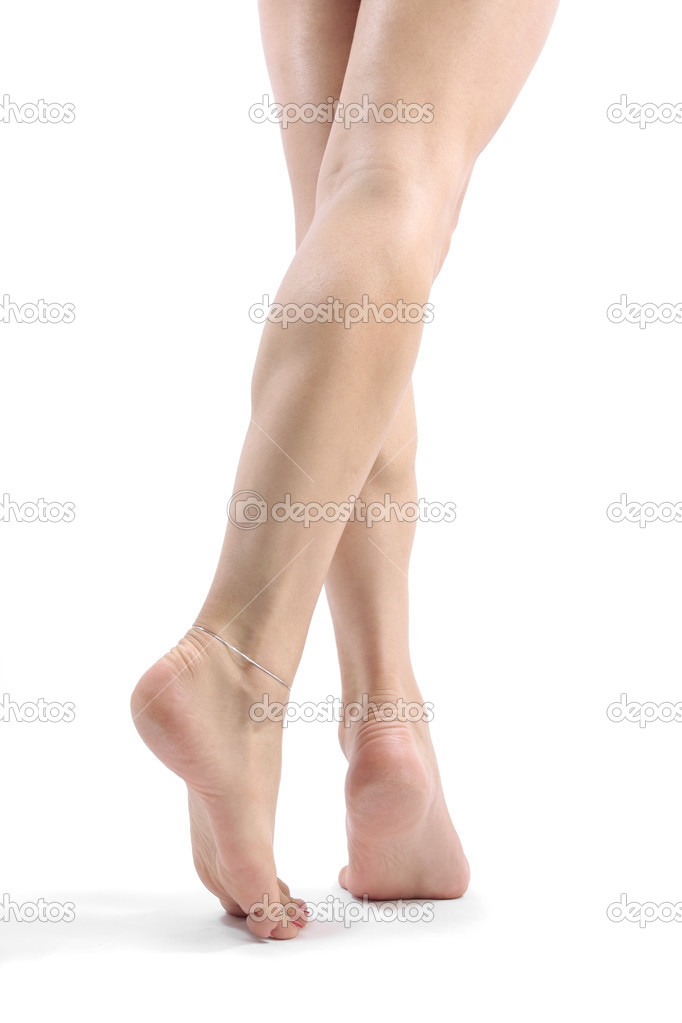 Woman legs and feet isolated over white background — Stock Photo #2826252