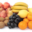 Fruit selection over white — Stock Photo