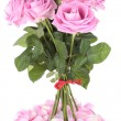 Stock fotografie: Bouquet of pink roses over white background