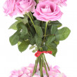 Bouquet of pink roses over white background — 图库照片 #3651976