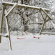 Garden covered in deep snow in winter — Stock Photo #3854360