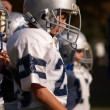 Stock Photo: Young Americfootball player