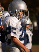 Young American football player — Foto Stock