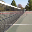 Outdoor tennis court - Stock Photo