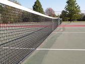 открытый теннисный корт — Стоковое фото