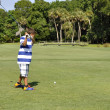 Young boy golfing — Stock Photo #3571547