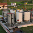 Oil tanks, collection point — Stock Photo