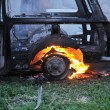 Car in flames — Stock Photo