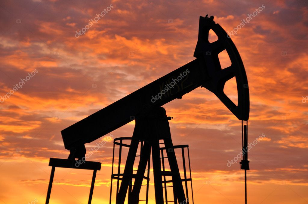 Oil industry, kacaljka, oil extraction, production of oil, fuel, iron, metal — Stock Photo #3296517