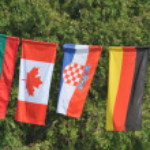 International flags — Stock Photo