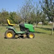 Green lawn mower — Stock Photo #3893445