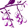 Royalty-Free Stock Imagen vectorial: Bird on a plum branch