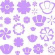 Flowers a set - Stock Vector