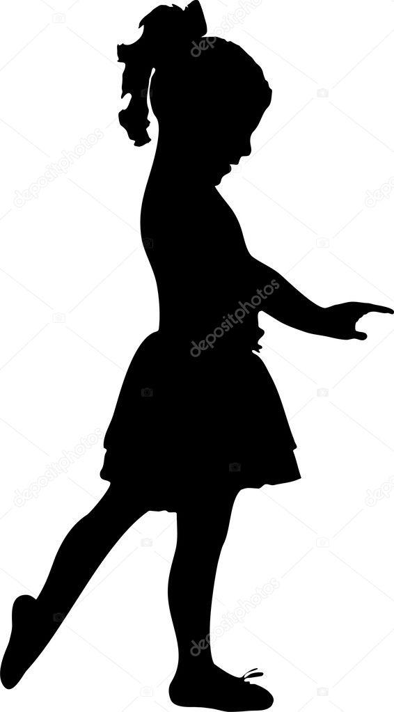 Балерина девочка силуэт 8