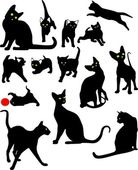 Cats in different poses — Stock Vector