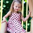 Girl Playing at the Playground 76 — Stock Photo