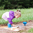 Child Playing in the Mud — Stockfoto #2961055