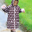 Stock Photo: Child Playing in Rain