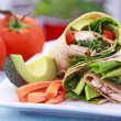 Vegetarian Sandwich Wrap - Stock Photo