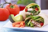 Vegetarische sandwich wrap — Stockfoto