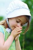 Amish or Mennonite Child Praying — Stock Photo