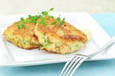 Zucchini Crab Cakes — Stock Photo