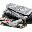 Handgun in Purse — Stock Photo