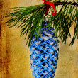 Pine Cone Christmas Ornament — Stock Photo