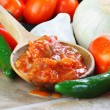 Salsa and Ingredients — Stock Photo #3482840
