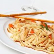 Asian Chicken Pasta — Stock Photo