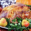Festive Thanksgiving Dinner — ストック写真