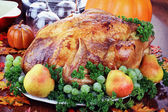 Festive Thanksgiving Dinner — Stock Photo